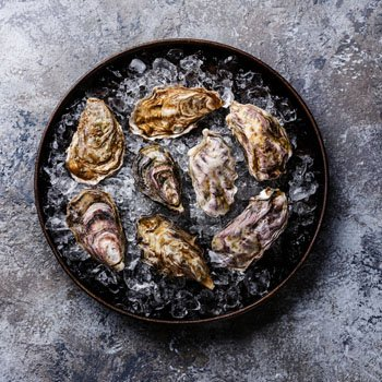 unshucked oysters
